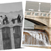 Lahontan Dam in early 1900s and during a high water year.
